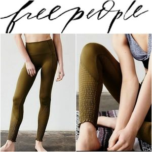 Free People Time Is Now Smocked Ankle Leggings